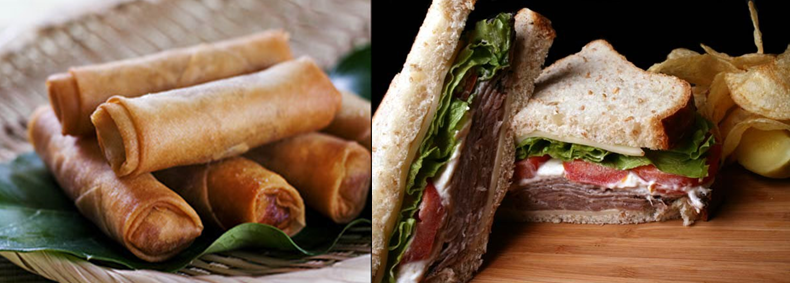 Roast Beef Sandwich and Spring Rolls.jpg